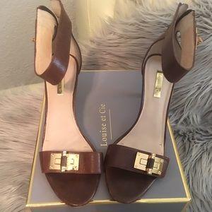 Louise et Cie Cognac Sandals